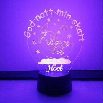 LED Lampa med namn – Elefant – Gauna